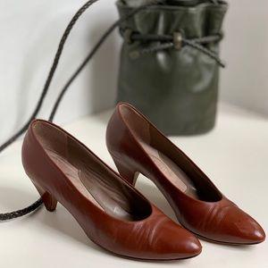 Vintage genuine leather heels